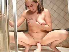 Brutal Dildo Shower Scene