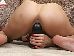 Busty Layla Rams Her Pussy With A Brutal Dildo