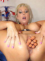 couples sex toys, Fourth of July Vagina Stuffing