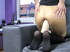 14,BLACK WIDOW HUGE TOY ANAL FUCK
