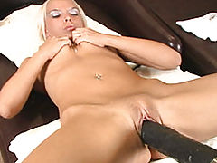 Blonde Gets Done In By A Brutal Dildo Fucking Machine