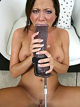 Sophia brutal dildo machine sex