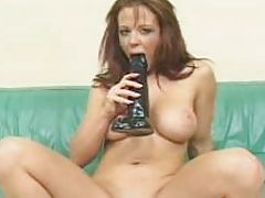 Insterting And Squirting All Over A Brutal Dildo