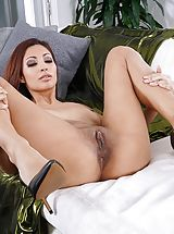 Shaved Vagina, Photo Set No. 1348 Jade Jantzen unveils her own sizeable cans and bares her own solid slit