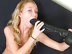 Phoenix stuffing a brutal dildo in her tight ass