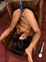 Toys Pics: Weird Sex Toys and Huge Dildos inside pussy of Lizzy London, Lyla Storm